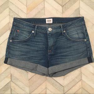 Hudson Cuffed Denim Shorts - 29 - Hampton